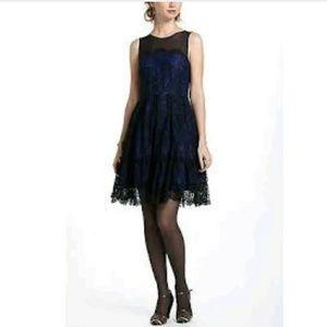 New Moulinette Soeurs Blue Sapphire Lace Dress